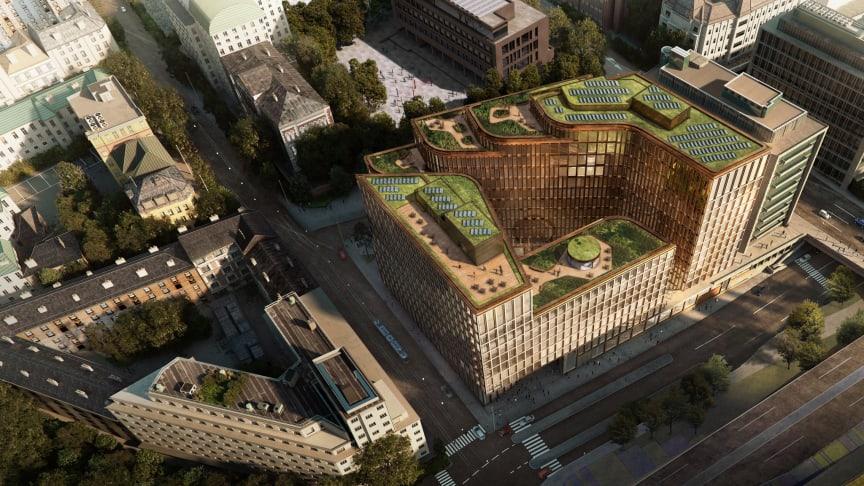 Illustrasjon: Prosjektet VIA i Oslo har ambisjon om BREEAM-NOR Excellent. Ill: Schmidt/Hammer/Lassen (DK)