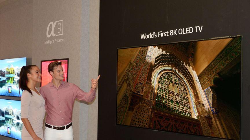IFA: LG introduserer verdens første OLED-TV med 8K-oppløsning