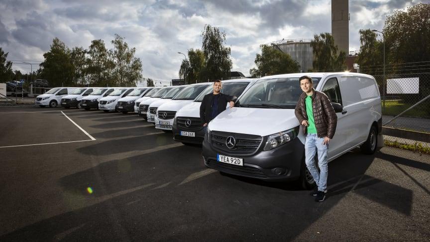 Ripro startades av Marian Nedelco och Aziz Khusainov och för bara två år sedan. Nu har man totalt 130 bilar varav 11 nya eldrivna eVito.