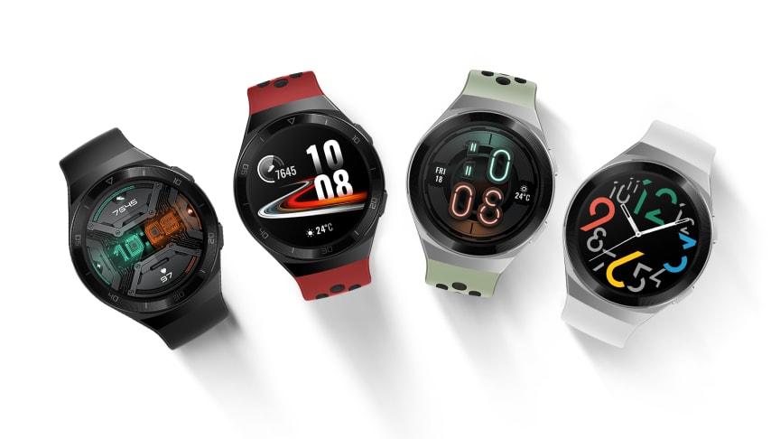 Huawei Watch GT 2e kommer att finnas tillgänglig i färgerna lavaröd, grafitsvart och mintgrön i Sverige