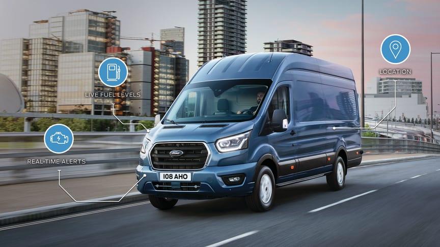 Ford îmbunătățește gama sa de vehicule comerciale, echipându-le standard cu numeroase servicii de conectivitate