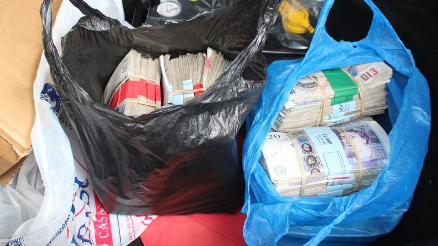 Cash found in Singh's vehicle