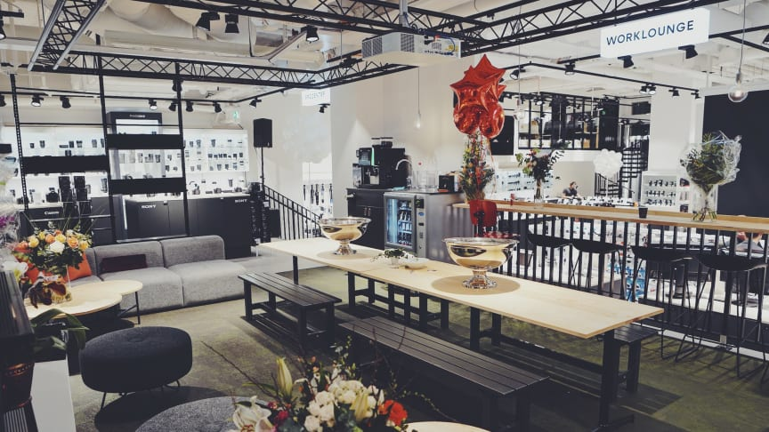 Workloungen i den nya butiken på Vasagatan. Foto: Johan Borehed