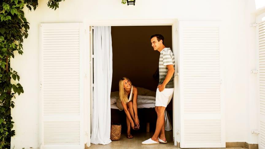 På Rhodos byggede Onasis-familien i sin tid 174 bungalows, som nu er renoveret og blevet til voksenhotellet Sunprime Miramare.