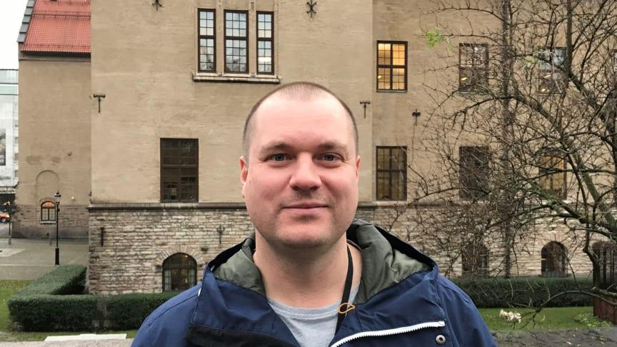 Andreas Grym, vinnare av Childhoodpriset 2019. Foto: Childhood