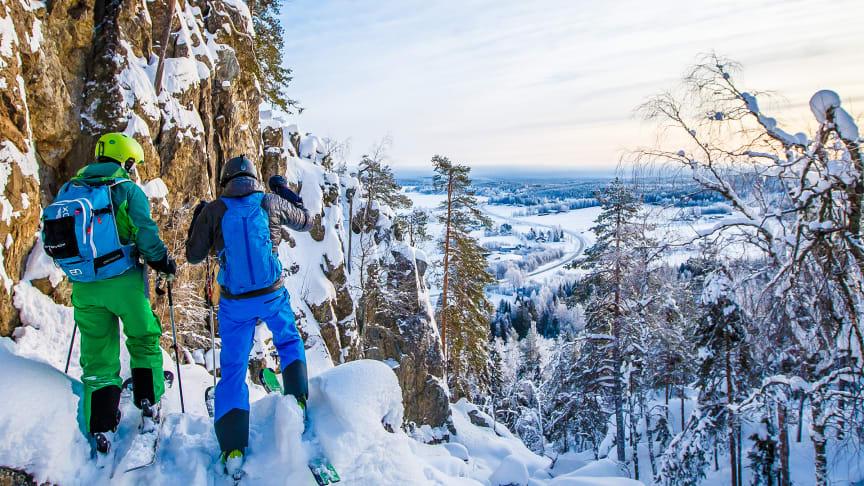 Tavelsjö Vintertoppar, här vyn från Vallberget. Foto Emil Byström