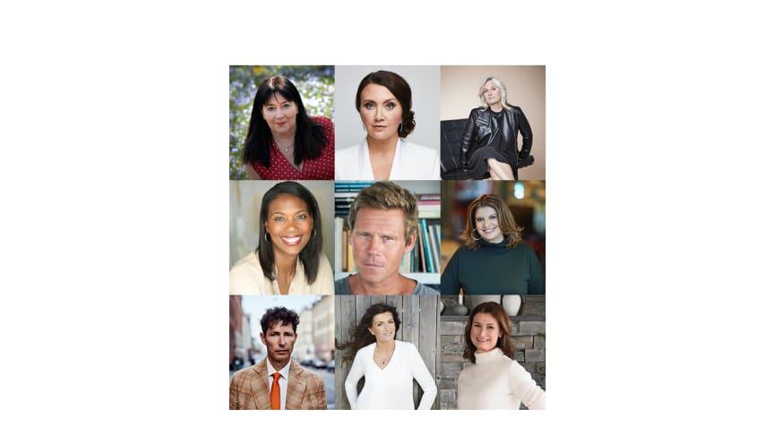 Anna Jansson, Camilla Läckberg, Carin Gerhardsen, Jennifer Anglade Dahlberg, Mons Kallentoft, Simona Ahrnstedt, Stefan Ahnhem, Mari Jungstedt, Viveca Sten