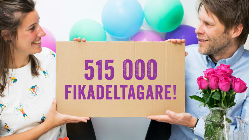 Sverige lyckades samla över 515 000 fikadeltagare i World Fairtrade Challenge 2017.