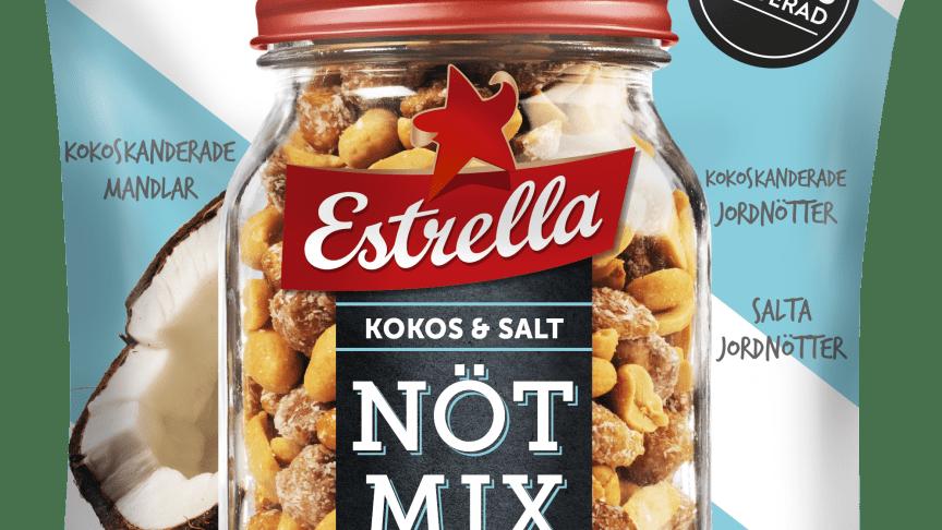 Estrella Nötmix Kokos & Salt
