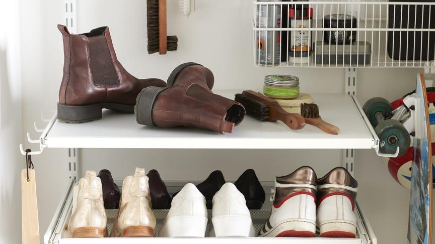 Elfa_förvaringslösningar för skor