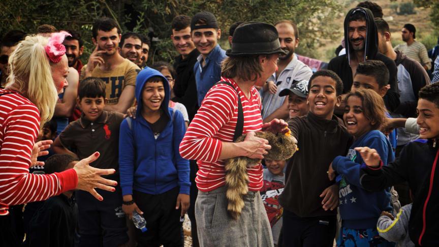 Bild från tidigare turné på Lesbos. Foto: Henrik Kindgren