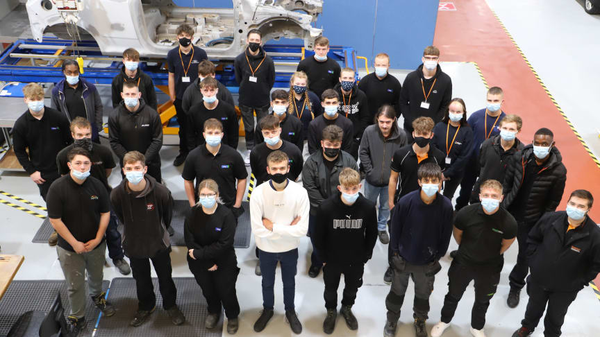 Addressing the skills shortage: Thatcham Research doubles apprentice intake for 2021