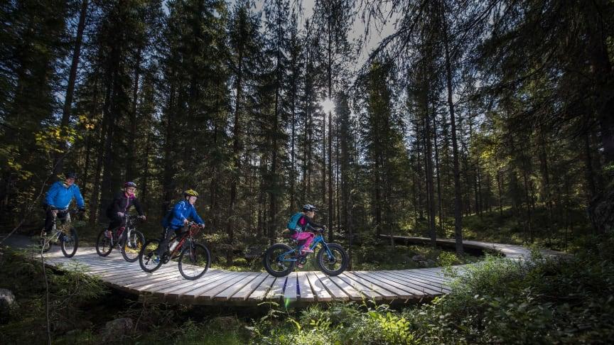 Trekloppene i Gullia er spennende å sykle på - både for store og små.