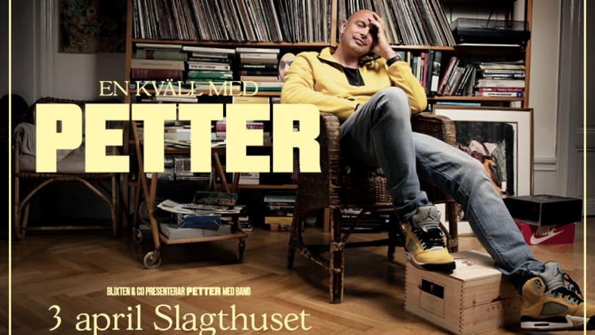 """""""En kväll med Petter"""" kommer till Malmö – intar Slagthuset den 3 april!"""