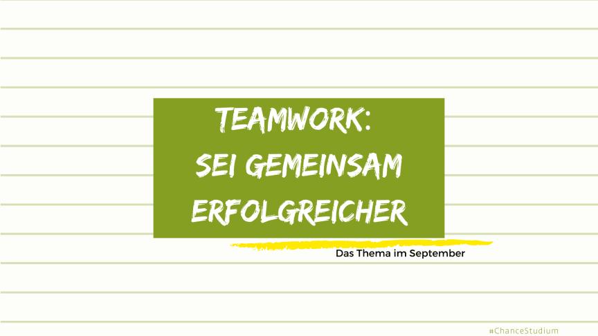 Das Thema im September: Teamwork