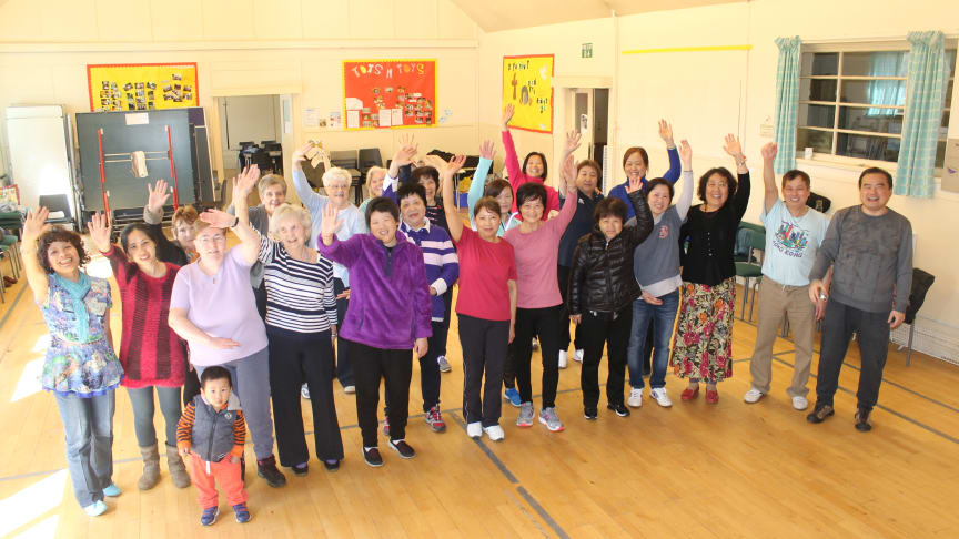 The sessions are led by ng homes Cultural Officer Michael Kam (seen here on the far right) with the group at Tron St Mary's Church in Red Road.