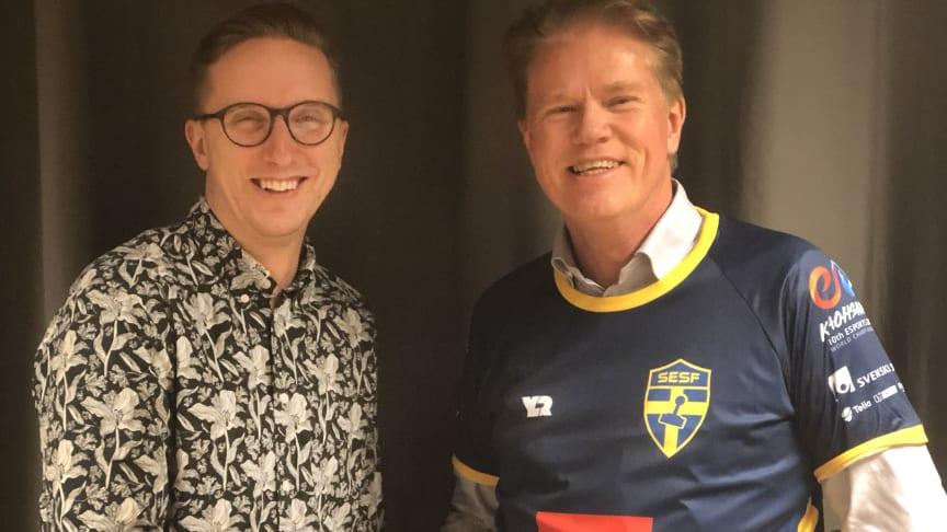 Robin Backström, vd YLDR och Tony Wickenberg, ny delägare