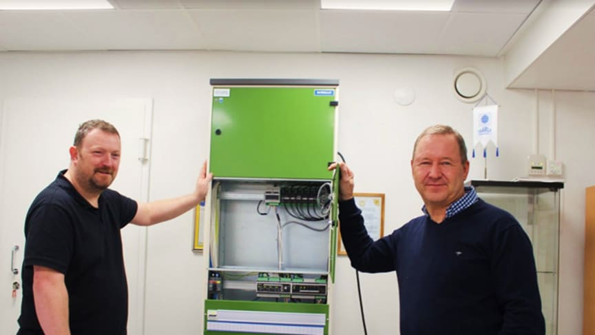 Gary Mcilvain, Managing Director of KVA Power Installations and Timo Ohtonen, Managing Director at PPO Elektroniikka in PPO-Elektroniikka´s office in Helsinki.