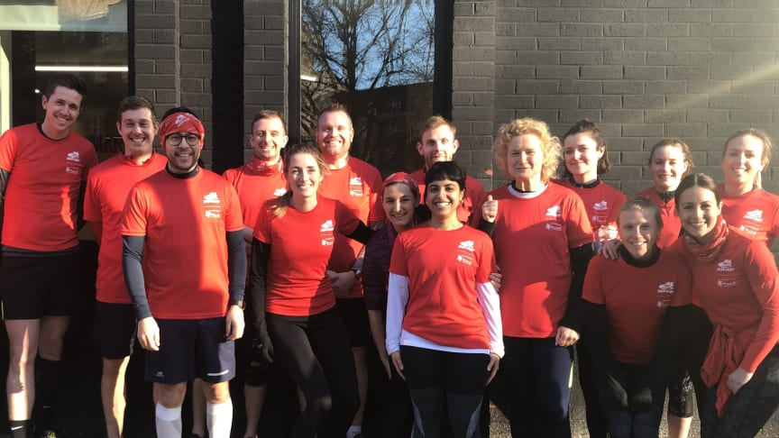 House of Sport residents supported the Red January campaign at the start of 2020.