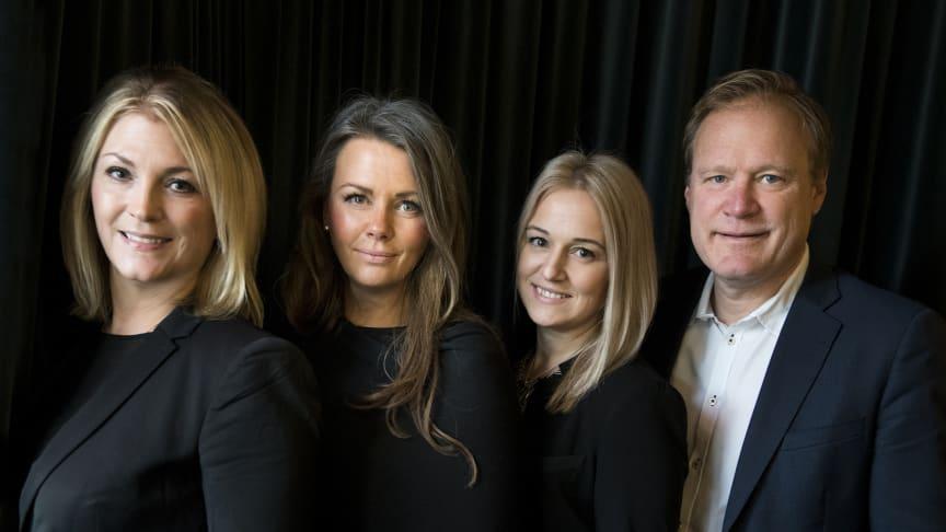 Anna Fägersten, Charlotte Eisner, Emma Haraldsson och Erik Larsson