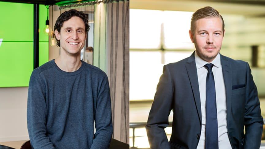 Oscar Berglund, VD på Trustly och Per Bodell, VD på Payson