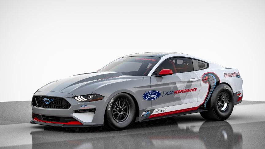 Fremtidens dragster: Elektrisk Mustang Cobra med 1400 hk