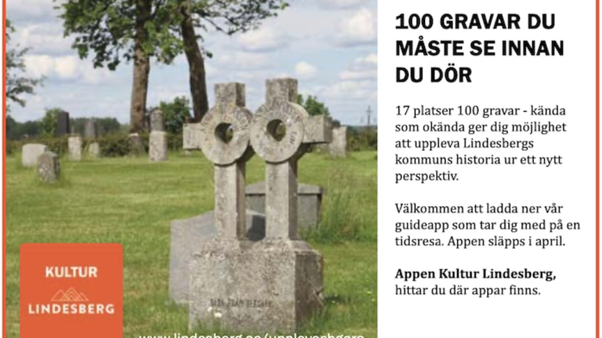 """Kulturappen """"100 gravar"""" speglar Lindesbergs kulturhistoria ur ett nytt perspektiv"""