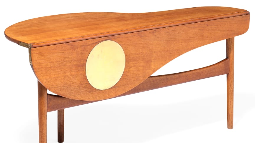 A rare coffee table by Finn Juhl up for auction.