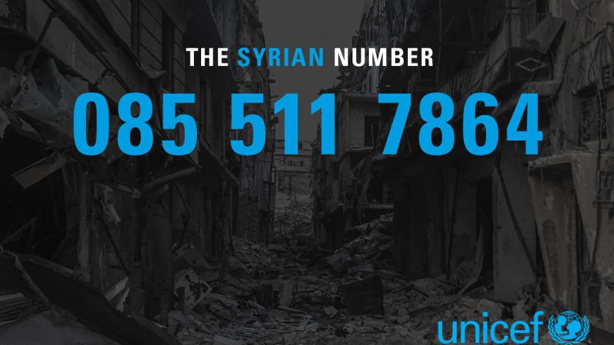 Nu släpper UNICEF The Syrian Number, med anledning av att det är sex år sedan kriget startade. Ring 085 511 7864 och bli kopplad till en familj i Syrien.