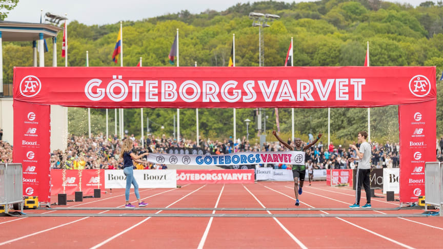 Gichia and Kimining winners of the 40th Göteborgsvarvet Half Marathon