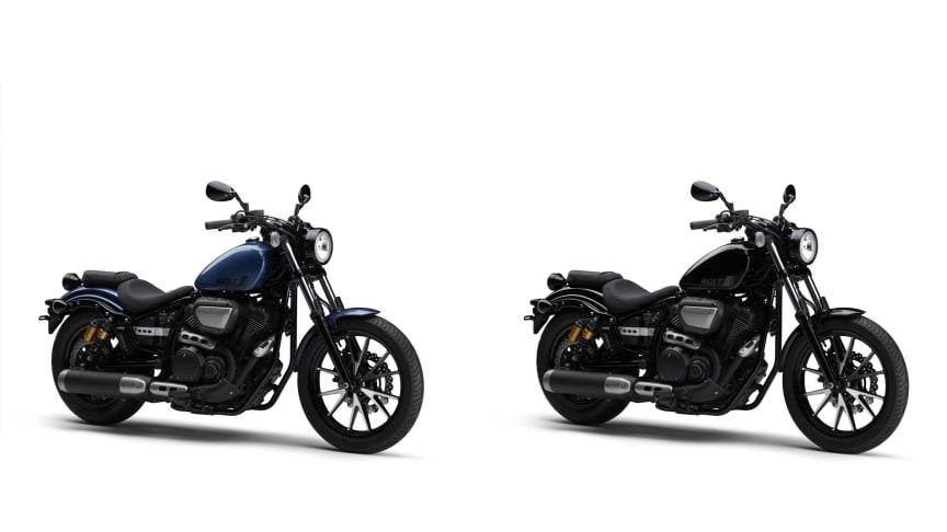 (左より)「BOLT Rスペック ABS」(ブルー)、「BOLT Rスペック ABS」(ブラック)