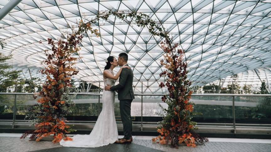 Bookings now open for unique wedding venues that offer exquisite views across Changi Airport!