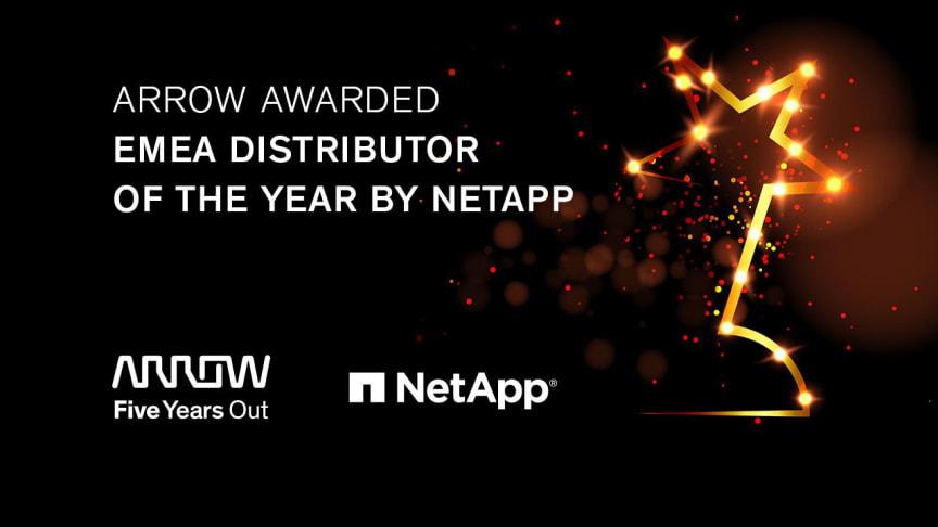 Arrow Electronics vinner NetApp EMEA 2020 Partner Excellence Award