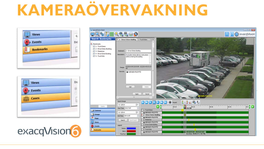 Organisera din kameraövervakning med exacqVision 6.2
