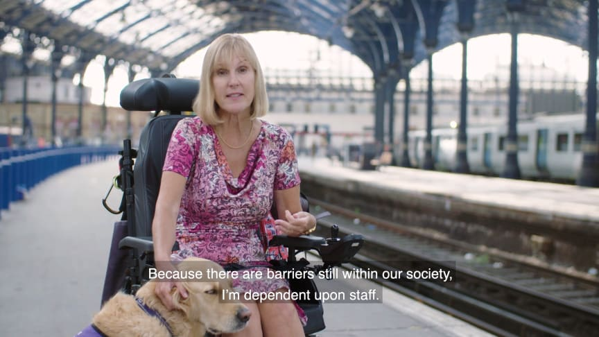 Fiona Bower at Brighton station features in the staff training videos - more images and video available to download below