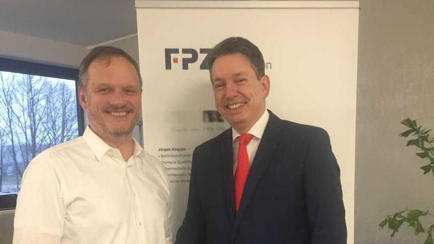 FPZ Geschäftsführer Dr. Frank Schifferdecker-Hoch und Dr. Ralf W. Schadowski, Sachverständiger für Datenschutz und IT Sicherheit im Bundesverband BISG e.V.