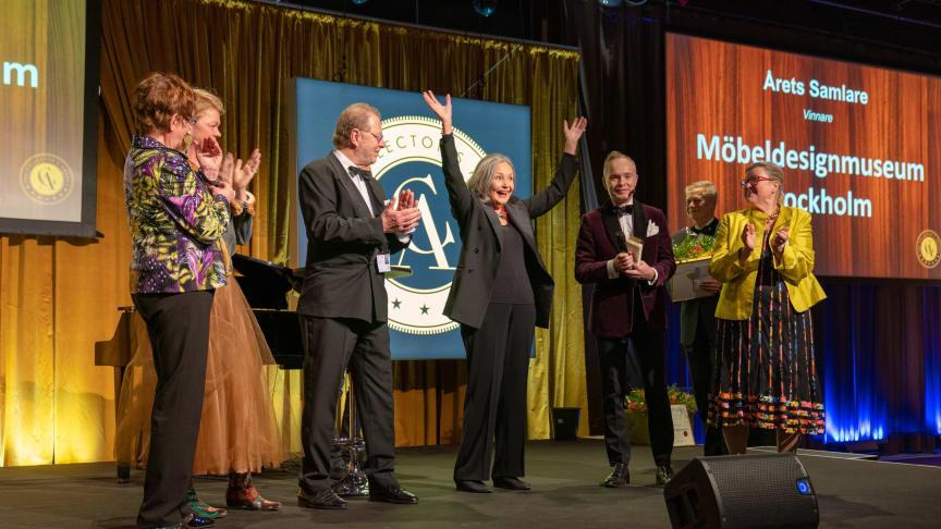 Kersti Sandin och Lars Bülow med Möbeldesignmuseum blev Årets samlare.