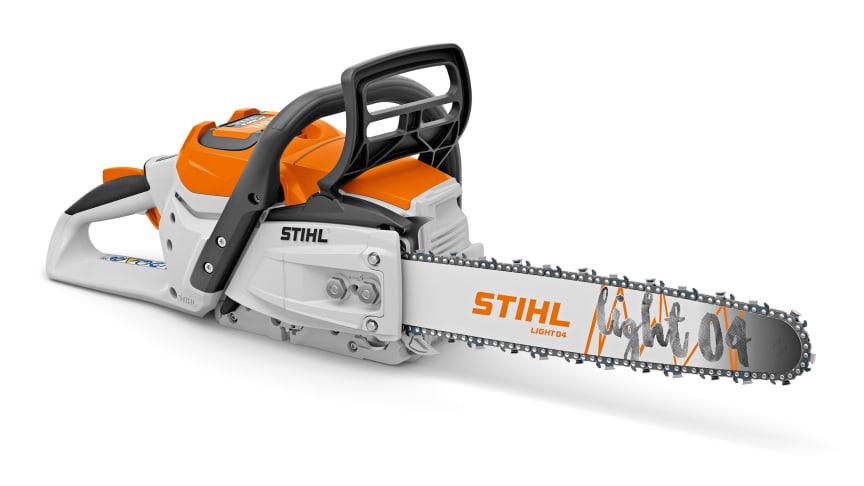 STIHL lanseeraa markkinoiden tehokkaimpiin kuuluvan akkukäyttöisen moottorisahan ja AP-järjestelmän uuden tehoakun