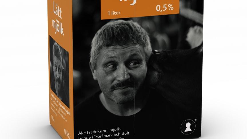 Var tionde bonde i Norrmejerier tar plats på mjölkpaketen