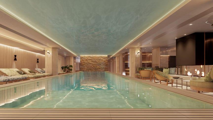 Så här kommer det att se ut när Elite Palace spa och gym öppnar i början av 2020. Arkitektbild.