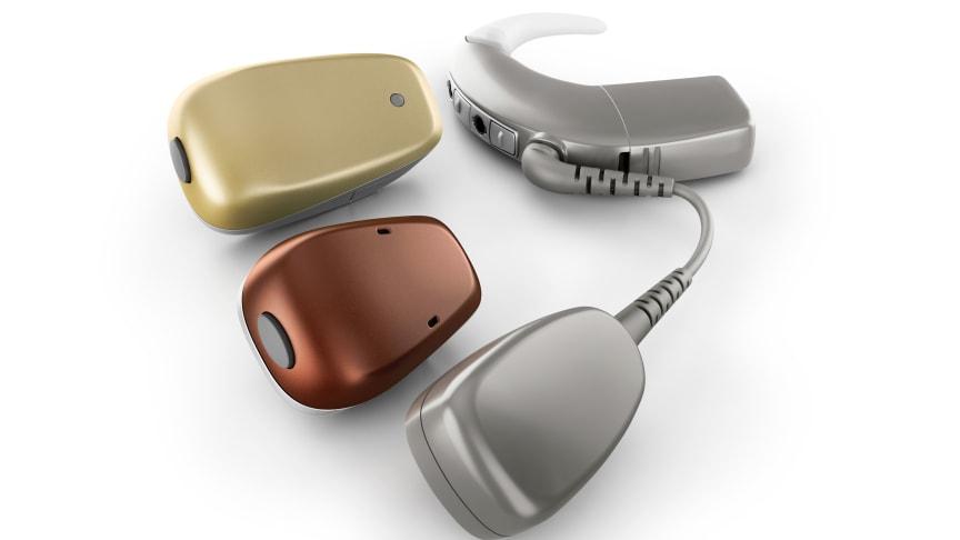 Aktuelle Trends bei Hörimplantaten – das Portfolio der Cochlear™ Baha® 5 Soundprozessoren (Foto: Cochlear Ltd.)