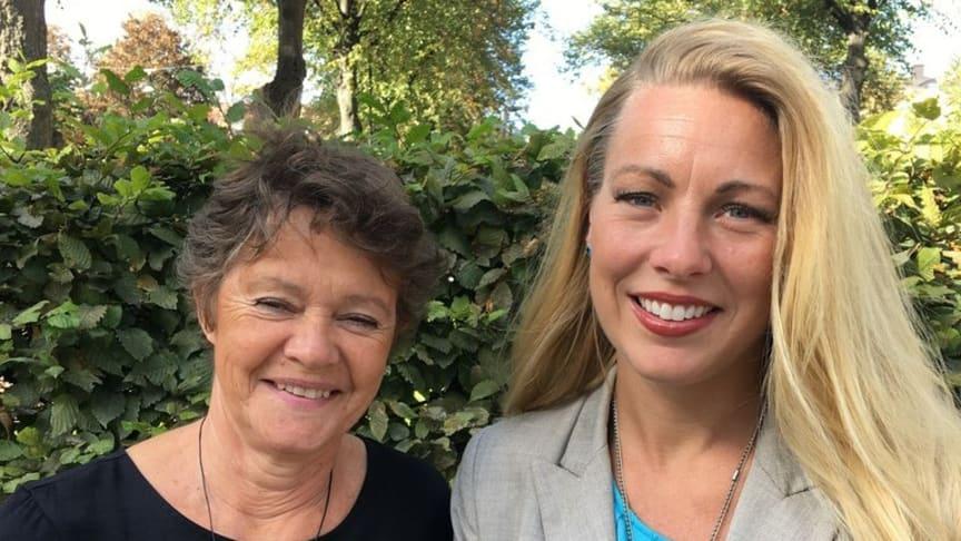 Bim Riddersporre, Malmö universitet, och Susanne Kjällander, Stockholms universitet, är redaktörer för en ny bok om förskolans digitalisering. Foto: Natur & Kultur.