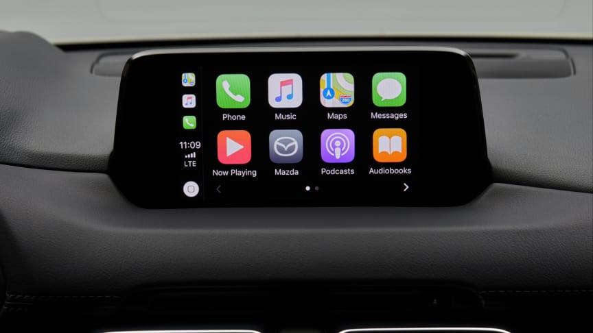 Apple CarPlay i en Mazda CX-5 av senaste snitt