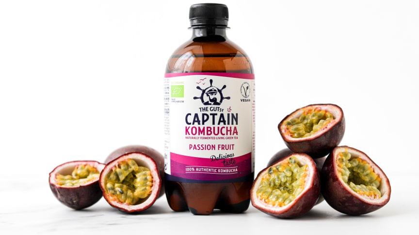 GUTsy Captain Kombucha Passion Fruit