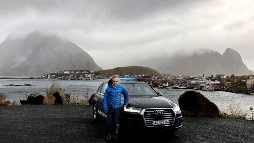 Reine i Lofoten var blant stedene dekningsdirektør Bjørn Amundsen besøkte og testet på turen landet rundt.