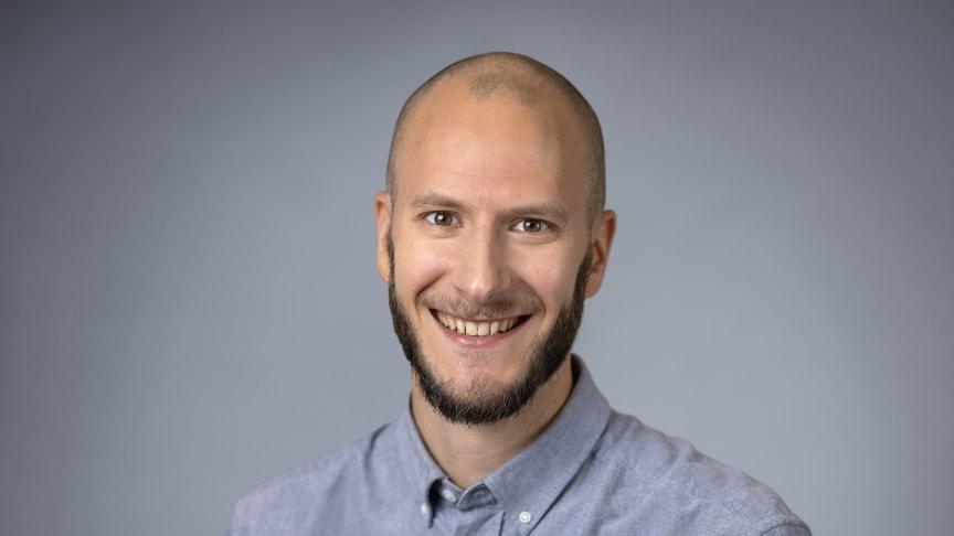 Marcel Ballin, doktorand vid Umeå universitet. Foto: Mattias Pettersson.