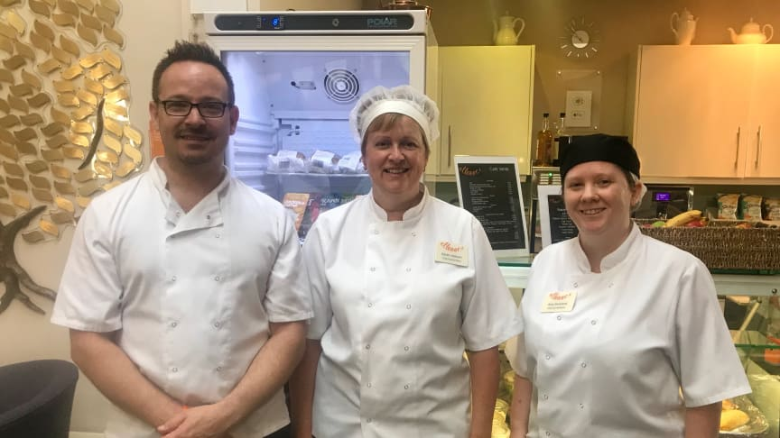 ellenor Catering team: Daniel Parzefall, Karen Jackson and Amy Gowland