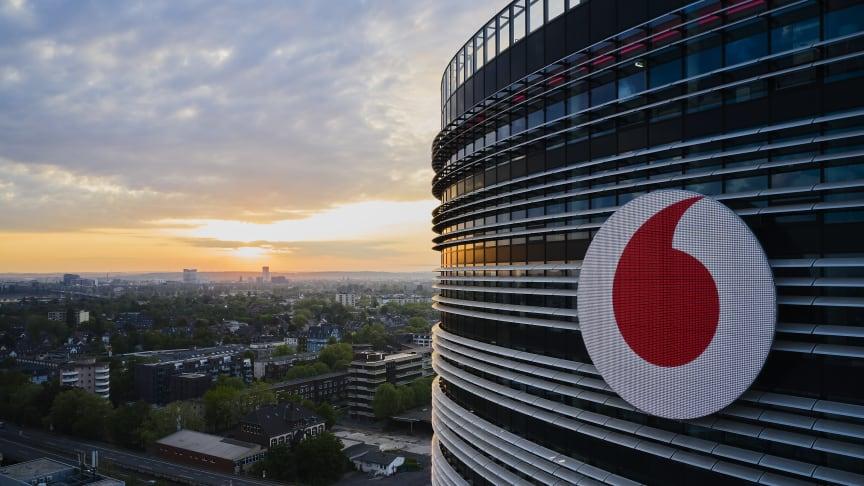 Die Vodafone Deutschland Zentrale in Düsseldorf.