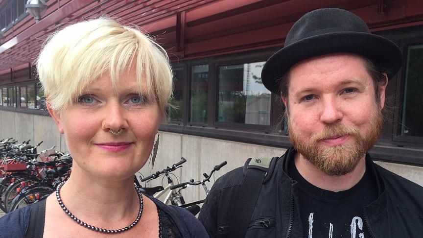 Anna-Carin Fagerlind Ståhl och Christian Ståhl vid Linköpings universitet. Foto: Eva Bergstedt