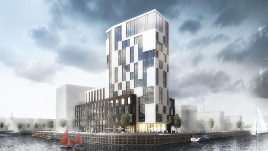 Midroc utvecklar ett nytt World Trade Center-kontor i Oceanhamnen Waterfront Business District i Helsingborg.